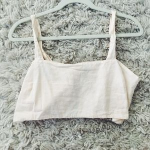 Linen cami crop top - Out from under